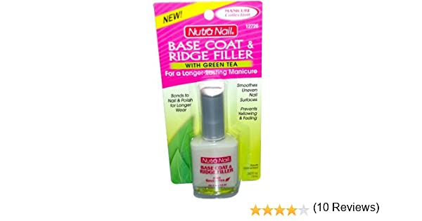 Amazon.com : Nutranail Basecoat + Ridge Filler With Green Tea 0.5 ...