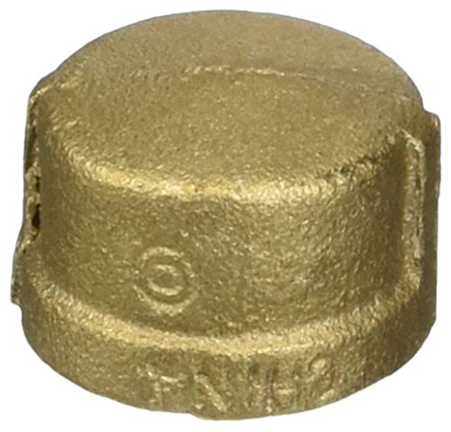 Brs Pipe Cap - Anderson Metals 38108 Red Brass Pipe Fitting, Cap, 3/4