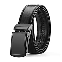 Mens Leather Belt,Ulstar Casual Business Belt Adjustable Waist Belt Auto Buckle