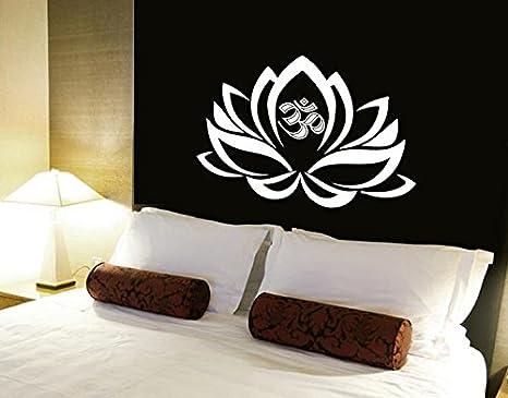 Etiquetas de la pared de la flor de loto Om de adorno indio ...