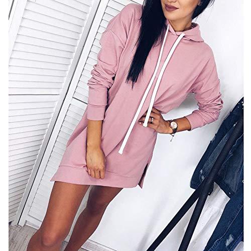 Rose Femme Shirt Tops Longue Manches À Capuche Aimee7 Sweat Automne Chic Longues Tee 6Sn5xOq7