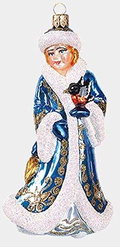 (Pinnacle Peak Trading Company Russian Snow Maiden Snegurochka Polish Blown Glass Christmas Ornament Decoration)