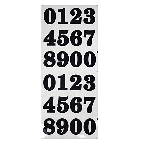 Homeford Bold Number Stickers  Black 1 1 2 Inch  40 Count