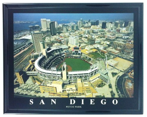 Framed Baseball San Diego Padres Petco Aerial Stadium Print Photo F7561A ()