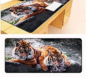 RKZM Alfombrilla de ratón Dos Bonitos Tigres Teclado ...