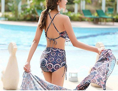 Da Delle Pantaloni Blu Floreali Costume Costumi Bikini Set Quattro Gonna Spiaggia Uomo Signore Sed Bagno H4w5t5