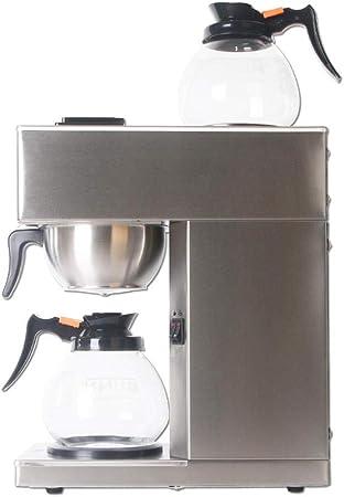 Cafeteras de destilación de Acero Inoxidable Completo Cafetera con Filtro Cafetera Comercial con 2 ollas-UE: Amazon.es: Hogar