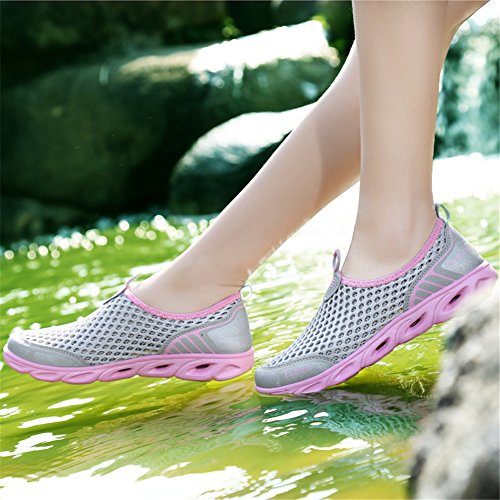 Beach Swim Boating Quick Yoga Water Aqua Surf Shoes Dry Yoga Viken Exercise Socks Lightweight Shoes Water UK Aqua Yoga Silver Beach Walking Lake Azer Sand Driving for Sports qYtwRBwU