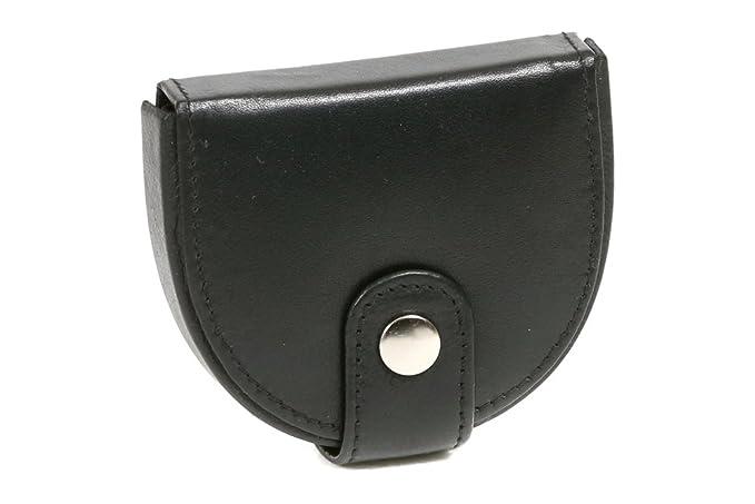 Box para monedas Cartera pequeña para señores Monedero para señoras LEAS, Piel auténtica, negro - LEAS Special-Edition