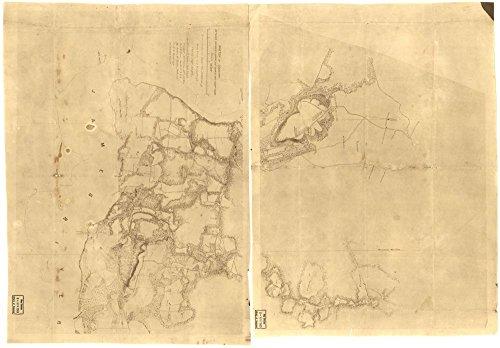 1860 Map Virginia  Charles City County Sketch Of Country Between Haxalls Landing