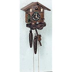 1-Day Small Rain Barrel Cuckoo Clock in Antique Finish