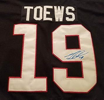 Jonathan Toews Autographed Black Chicago Blackhawks Replica Jersey ... c37654083