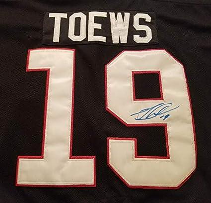 best sneakers e91d2 557f7 Jonathan Toews Autographed Black Chicago Blackhawks Replica ...