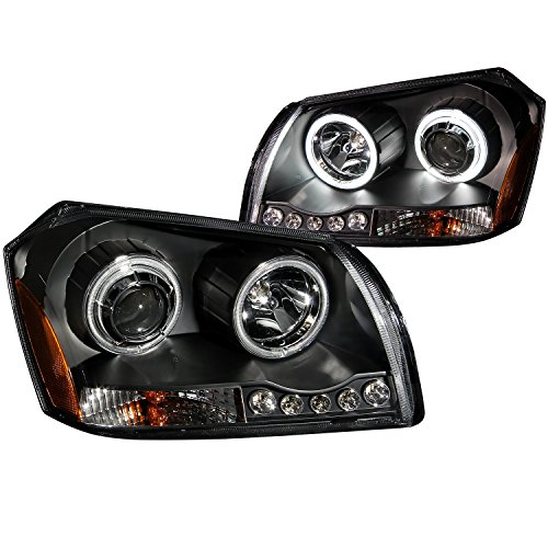 Anzo USA 121220 Dodge Magnum Projector Black Headlight Assembly - (Sold in Pairs)