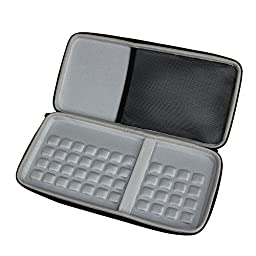 For Logitech K380 920-007558 920-007559 Bluetooth Keyboard Hard EVA Travel Storage Carrying Case Cover Bag by Hermitshell