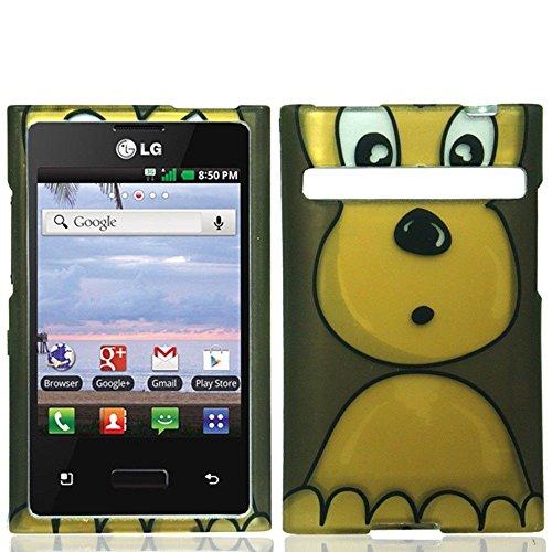 LG Optimus Logic L35g, LG Dynamic L38c, LG Zone Vs410, Luckiefind Snap-on Rubberized Hard Plastic...