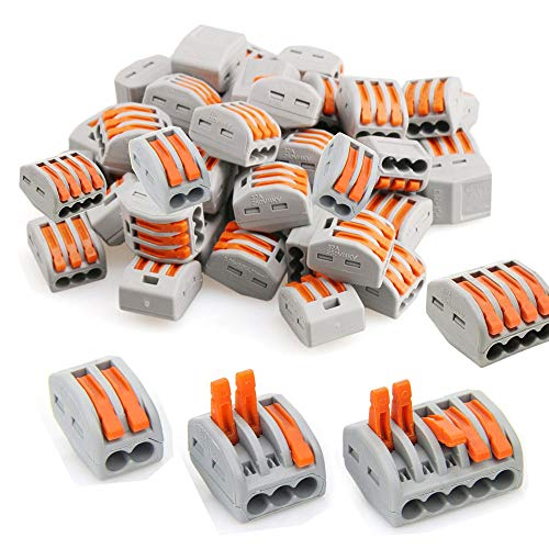 Lever-Nut Assortment Conductor Compact Wire Connectors PCT-212(25 PCS) PCT-213(25 PCS) PCT-214(25 PCS) PCT-215(25 PCS) ()