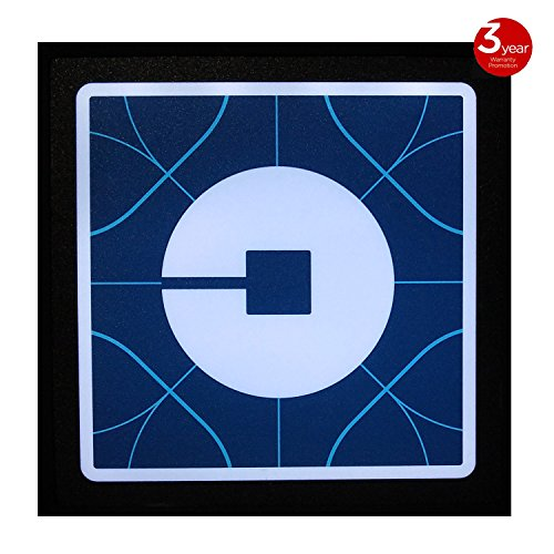 Uber LED Light Sign Logo Sticker Decal Glow Wireless Decal Accessories Removable Uber Lyft Glowing Sign For Car Taxi Uber Lithium Battery Power