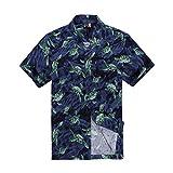 Men Hawaiian Shirt in Navy Turtles