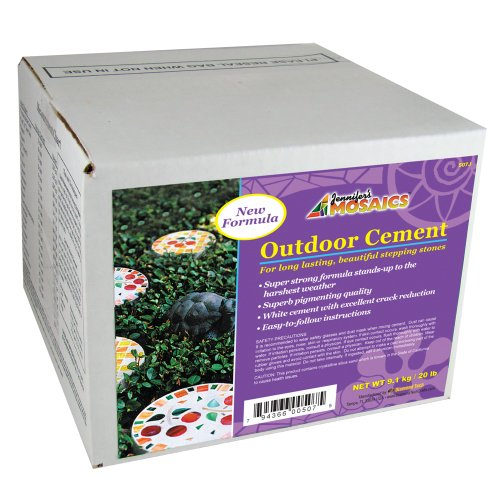 Jennifer's Mosaics Outdoor Cement, 20-Pound