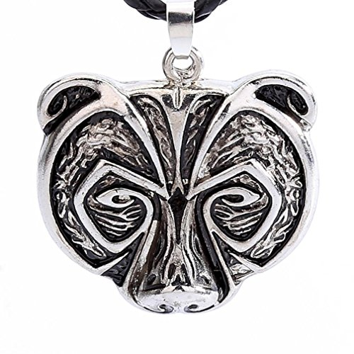 Botrong® Bear Head Necklace Legend Amulet Viking Norse
