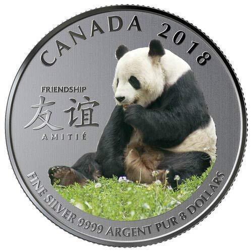 TGBCH TGBCH TGBCH Canada, The Peaceful Panda, 8 Dollar Silber B. U Münze 29b94e