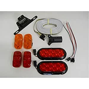 amazon.com: led small trailer marker brake stop turn tail ... small trailer lights wiring #10