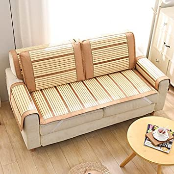 Amazon.com: XUEXIN Bamboo sofa cushion ice cane sofa ...