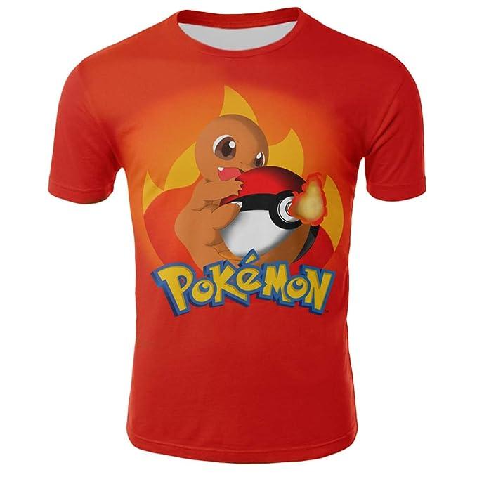Hojoo Camiseta Unisex Camiseta Estampada 3D T-Shirt Hombres Mujeres Sudadera Pokemon XXS
