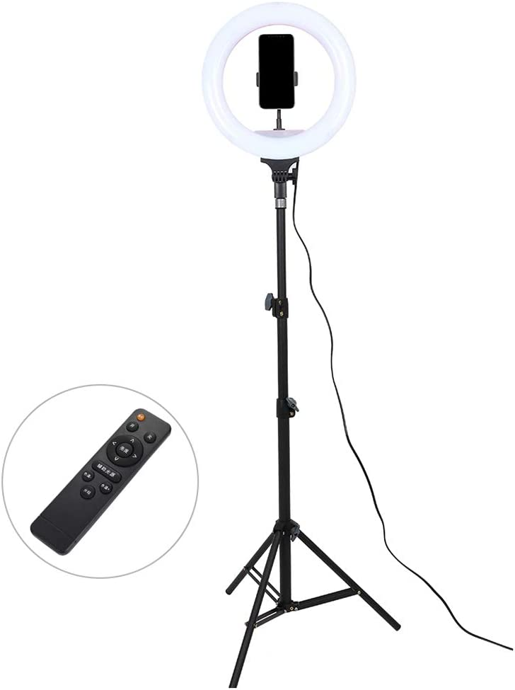 Peaceip US Ring Light 12in//32cm External Ring Light Kit Dimmable LED Light with Tripod Stand Remote Control Mobile Stand for YouTube Video and Makeup