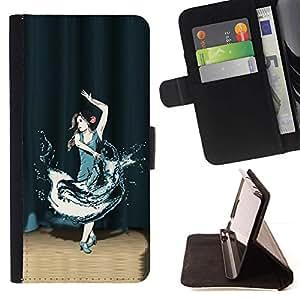 For Samsung ALPHA G850 Case , Danza en primer plano- la tarjeta de Crédito Slots PU Funda de cuero Monedero caso cubierta de piel