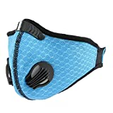 ESOEM Blue Racing Bike Mask with High Breath-ability Wind Resistant, Outdoor Workout for Men & Women by