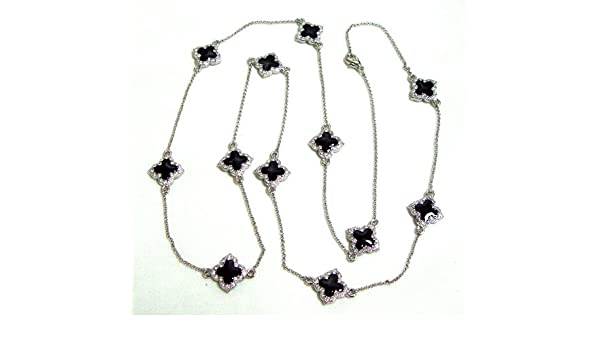 Mireval Sterling Silver Purple CZ Pendant approximately 35 x 12 mm