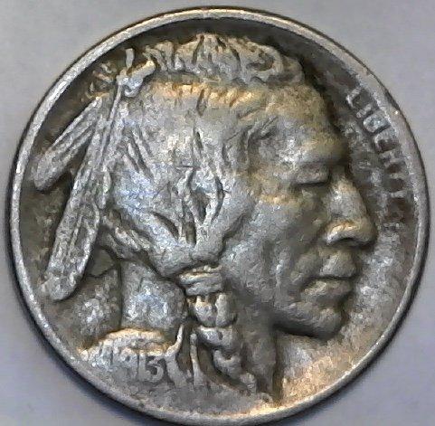 Buffalo 1913 (1913 S Buffalo ((TYPE I)) Nickel Fine)