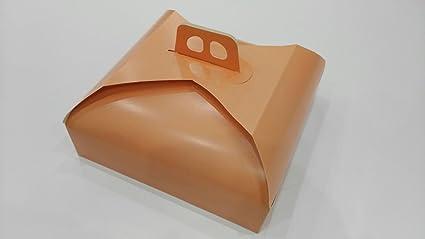 dalbags – unidades 3 caja porta tartas de cartón – para transportar pasteles, tartas etc. – apto para tartas y bandejas rectangulares y cuadradas tamaño 27 x 27 color rosa Pesca: Amazon.es: Oficina y papelería