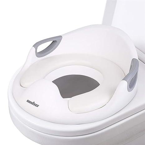 UNHO Asiento de Inodoro para Niños Reductor de WC para Bebé Adaptador WC con Cojín Suave Orinal de Bebé en Diseño Antideslizante Antisalpicadura ...
