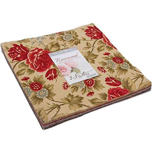 3 Sisters Rosewood Layer Cake 42 10-inch Squares Moda Fabrics ()