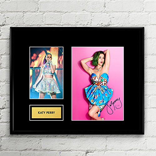 Katy Perry Signed Autographed Photo Mat Custom Framed 11 x 14 Replica Reprint Rp (Katy Perry Best Photos)