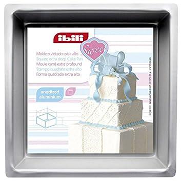 IBILI 815220 - Molde cuadrado extra alto (20 x 20 x 10 cm) Aluminio anodizado: Amazon.es: Hogar
