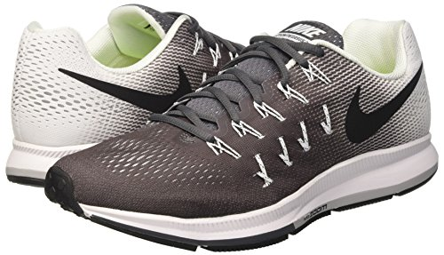 Nike Air Zoom Pegasus 33, Zapatillas de Running Para Hombre Gris (Dark Grey / Black-White)