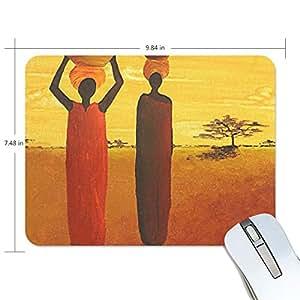 Amazon com : Mouse Pads, Afro American Women Theme Art