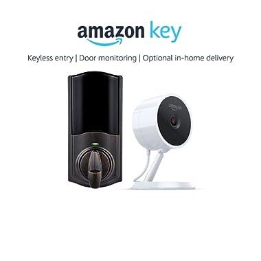 Kwikset Convert Smart Lock Conversion Kit in Venetian Bronze + Amazon Cloud Cam, works with Amazon Key