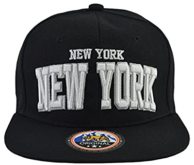 Incrediblegifts New York Snap Back Black Hat