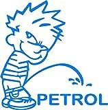 Indiashopers Boy Petrol Sides, Windows Car Sticker (Blue)