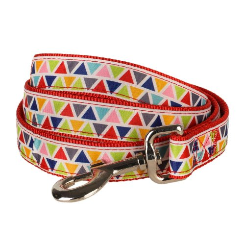 Blueberry Pet Durable Vibrant Triangle Pattern Dog Leash 5 ft x 3/4