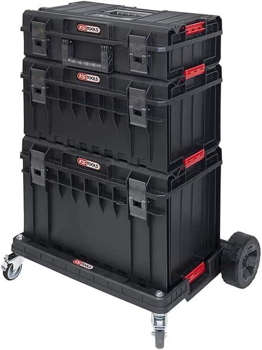 KS Tools 850.0377 - Juego de cajas de cartón con carrito de transporte (4 unidades), color blanco: Amazon.es: Bricolaje y herramientas