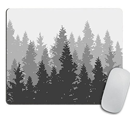 Landscape Panorama (Wild coniferous Forest Background. Pine Tree Mouse pad, Landscape Nature Mousepad, Wood Natural Panorama)