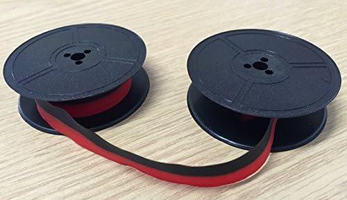 Typewriter nastro di inchiostro Triumph Adler Tippa 1/Elite doppia bobina nero rosso