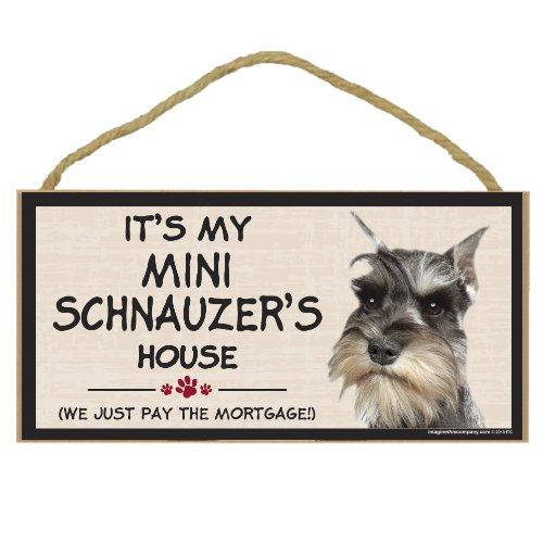 Imagine This Wood Breed Decorative Mortgage Sign, Mini Schnauzer by Imagine This