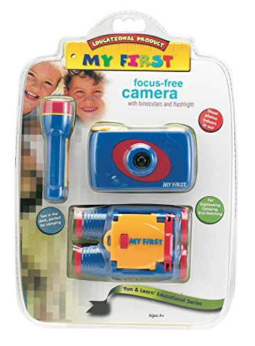 Camera Free Gift Set - My First Focus Free Camera with Binoculars and Flashlight